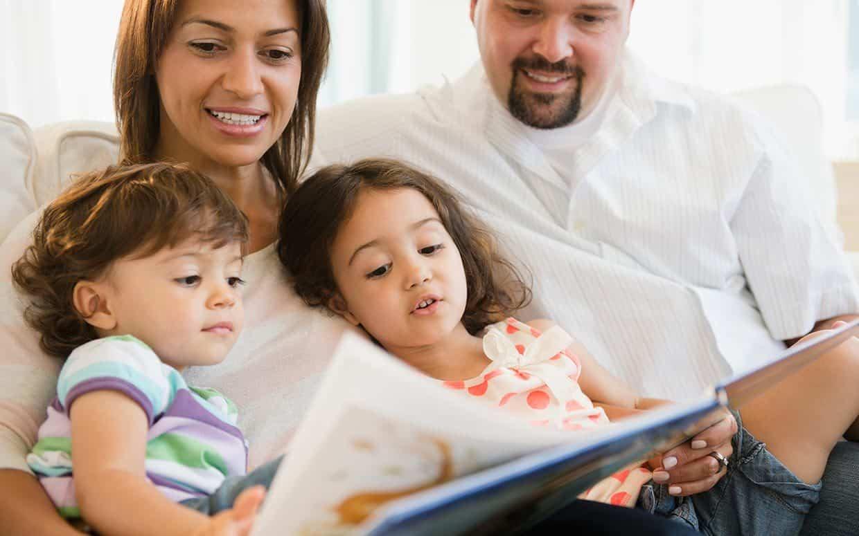 parents teaching children