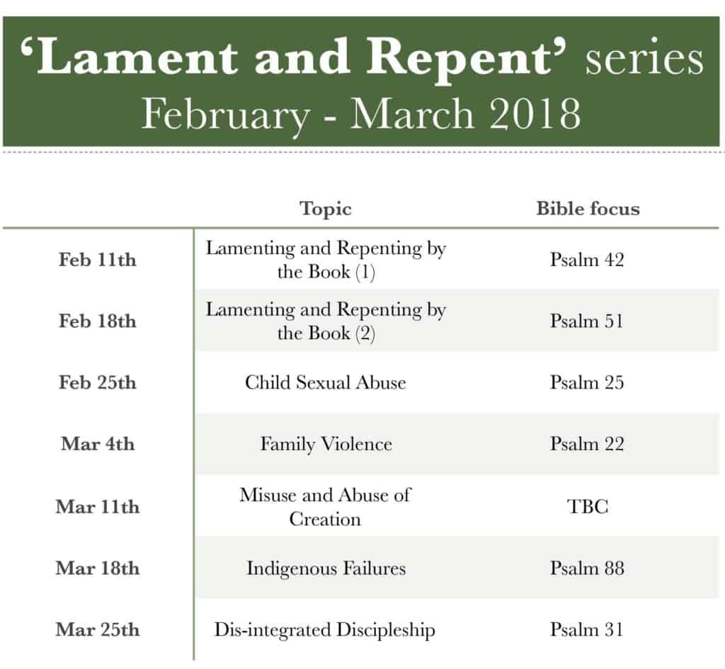'Lament and Repent' Preaching Series